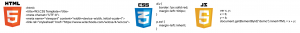 Example of HTML, CSS and JAVASCRIPT